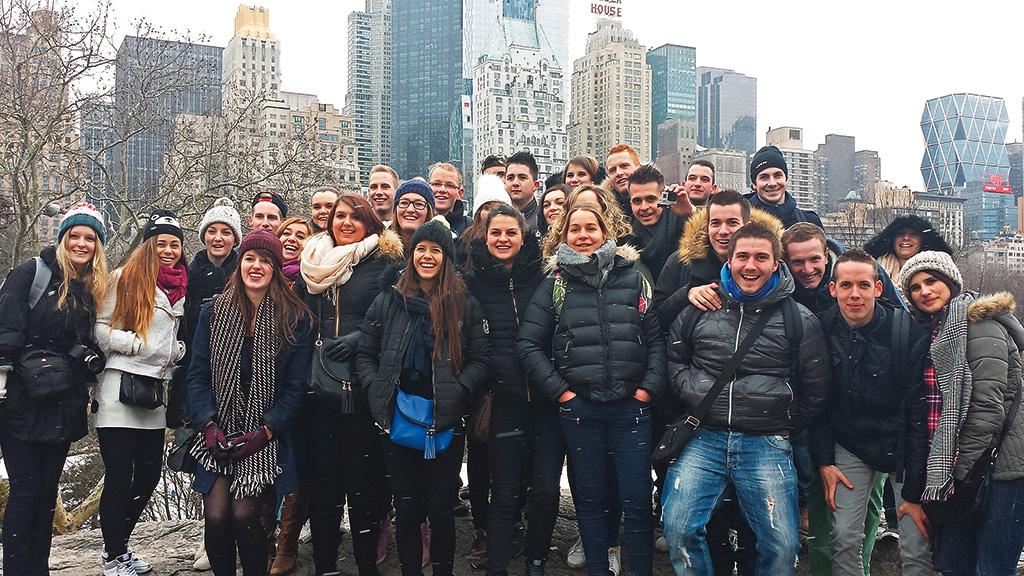 Voyages États Unis New York sortie scolaire élèves BTS NDRC négociation digitalisation relation client commerce vente enseignement supérieur Charles de Foucauld Brest Groupe scolaire Estran