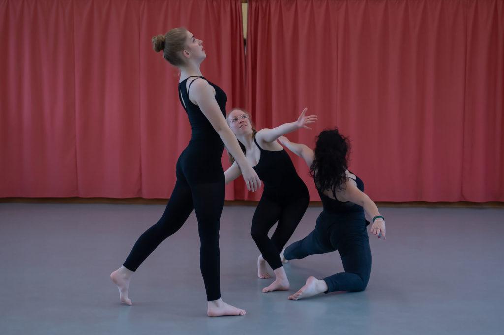 Adolescentes qui dansent trio danseuses sciences techniques théâtre musique danse S2TMD bac lycée enseignement supérieur Fénelon groupe scolaire Estran Brest
