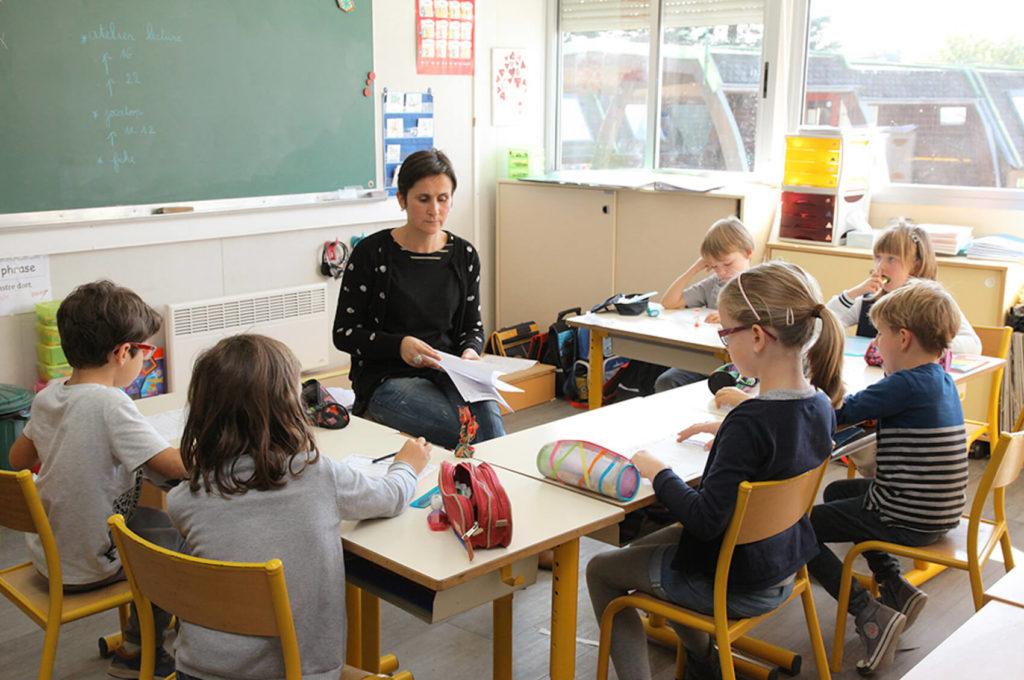 Salle de classe école maternelle primaire élémentaire éducation enseignement épanouissement élèves Saint Joseph du Pilier Rouge Brest