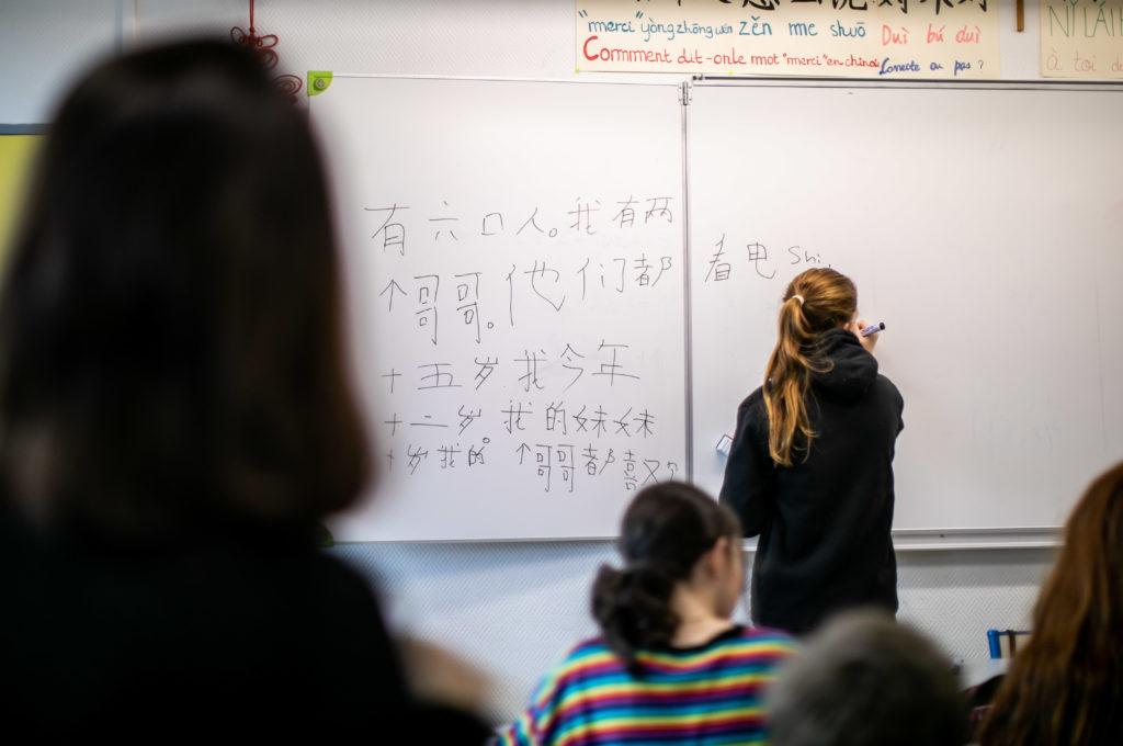 Apprendre le chinois langue vivante option Éducation enseignement apprentissage seconde première générale technologique terminale STL STMG lycée Charles de Foucauld Brest Groupe scolaire Estran